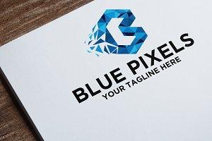 Letter B | Blue Pixels Logo Template