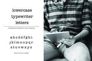 Procreate Typewriter Font lowercase