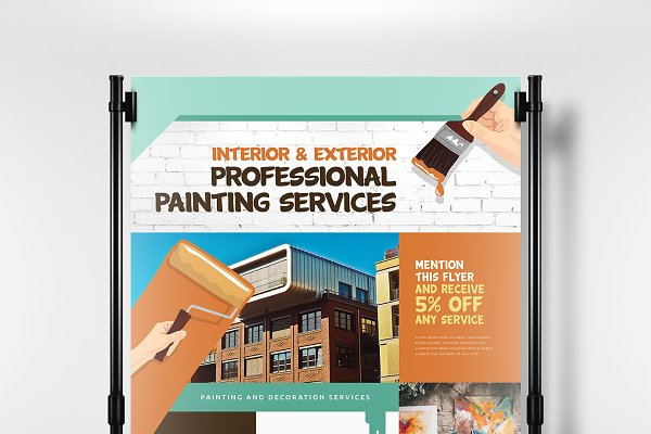 Painter Decorator Poster Template Creative Illustrator Templates Creative Market,Wall Art Modern Dining Room Wall Decor