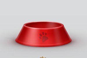 Red pets bowls