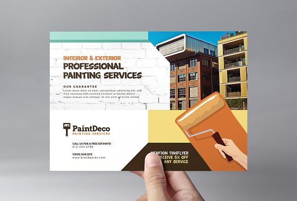 painter decorator flyer template flyer templates creative market