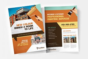 Painting & Decorating Flyers ~ Flyer Templates ~ Creative ...