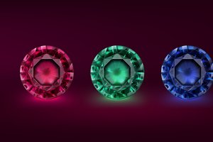 Colored precious stones