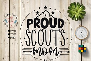 Proud Scouts Mom Cut File