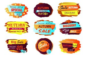 Autumn Sale Best Offer Vector Illustration