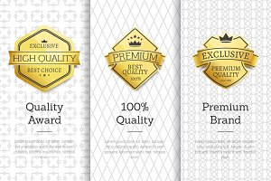 Exclusive High Quality Awards Premium Brand Set