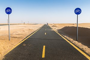 Al Qudra cycling track near Dubai