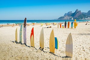 Surfboards at Ipanema beach