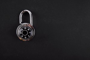 combination lock close up