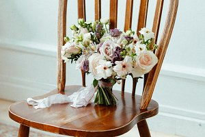 brides bouquet of fresh flowers