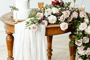 beautifully laid table with candles