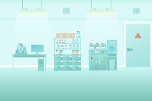 Scientific lab interior flat style