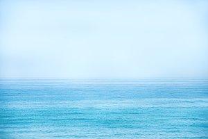 Calm blue sea and clear sky