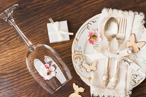 Utensil and silverware with different decorations