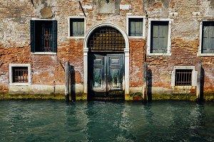 Venetian Door on Canal