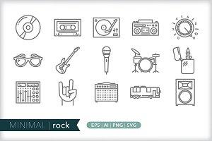 Minimal rock icons