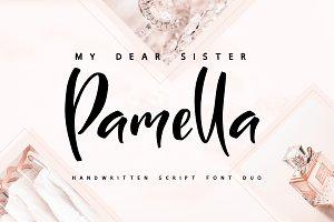 My Sister Pamella Font Duo