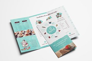 Cake Shop Trifold Brochure Template
