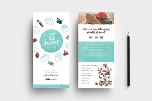 Cake Shop DL Card Template