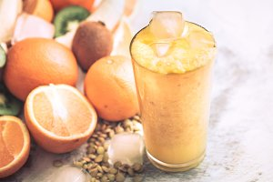 Orange Juice Fresh with Fruit