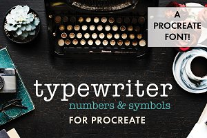 Procreate Typewriter Font numbers
