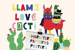 Llama Love Cacti