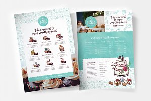 Cake Shop Menu Template