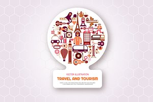 London and Paris Travel vector