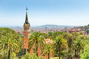 Museum of Antoni Gaudi in park Guell