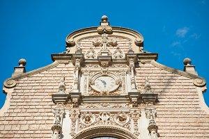 Clock on the wall on monastery