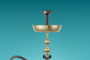 Big golden hookah