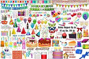 Birthday MEGAPACK Clip Art
