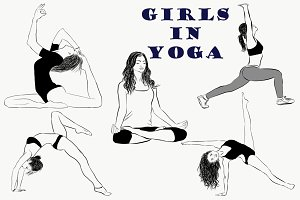 Yoga Poses Collection. Girls