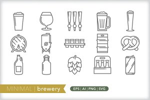 Minimal brewery icons
