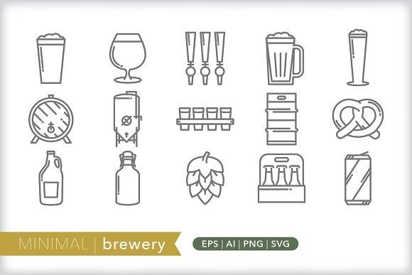 Minimal brewery icons