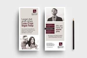Law Firm DL Card Template