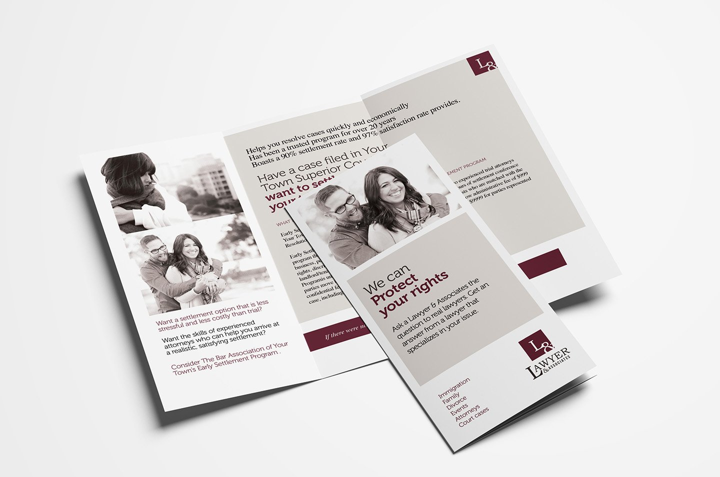 law firm trifold brochure template brochure templates creative market