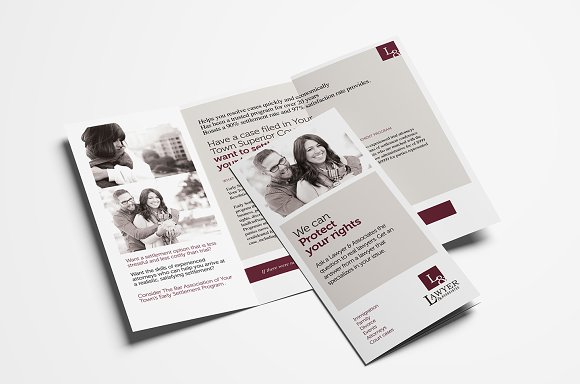 law firm trifold brochure template brochure templates creative