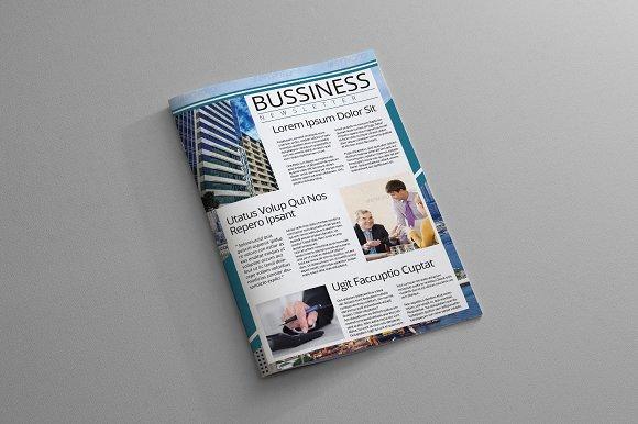 Indesign Newsletter Template Brochure Templates Creative Market