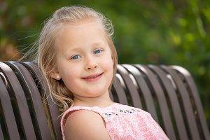 Pretty Young Caucasian Girl Portrait