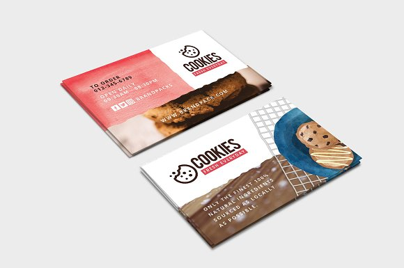 Cookie shop business card template business card templates cookie shop business card template business card templates creative market colourmoves