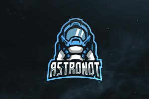 Astronaut Sport and Esports Logo
