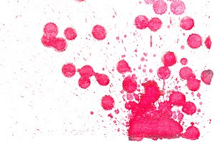 Abstract red ink splash