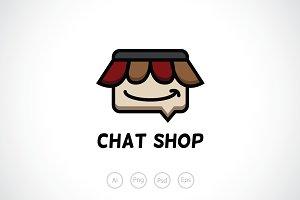 Chat Shop Logo Template