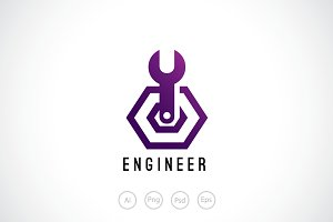 Engineer Mechanic Logo Template