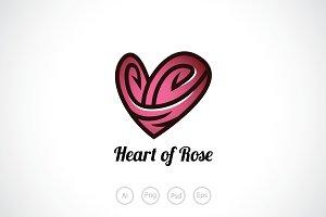 Heart of Rose Logo Template