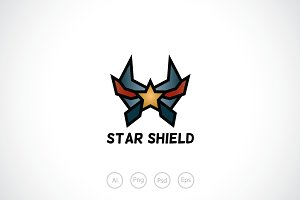 Star Shield Logo Template