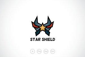 Star Shield Logo Template
