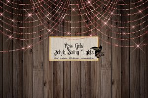 Rose Gold Sparkling String Lights