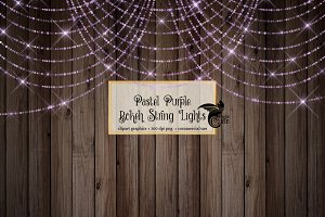Pastel Purple Sparkling String Light